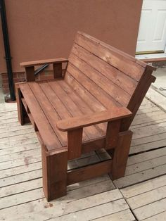 Two Seater Garden Bench From Pallets Pallet Benches, Chairs & Stools Pallet in The Garden