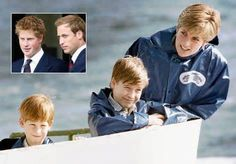 Harry, Prince of Wales * Prince William, Duke of Cambridge * Diana, Princess of Wales #princessdiana