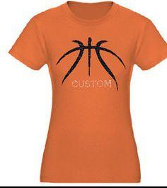 Basketball Mom Glitter and Rhinestone Tee by FleurdeBling on Etsy, $24.99