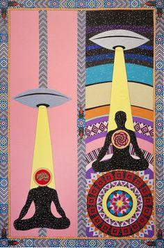 ufo / et / woven blanket art