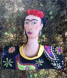 Frida Kahlo shelf sitter doll.