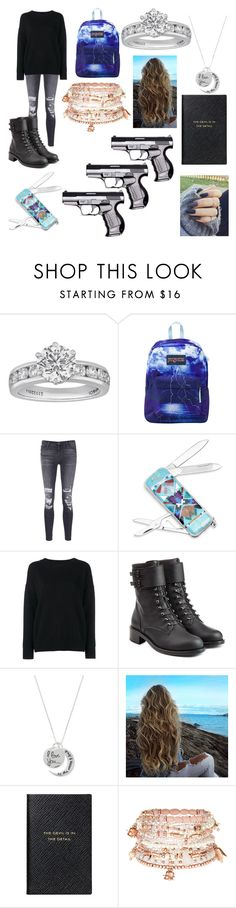 """Maddy8"" by emilypaul0400 on Polyvore featuring Tiffany & Co., JanSport, J Brand, BillyTheTree, Frame Denim, Philosophy di Lorenzo Serafini, Smythson and Accessorize"