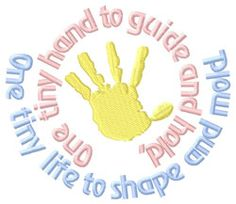 People Embroidery Design: One Tiny Hand... from Grand Slam Designs