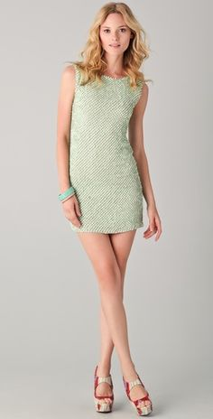*Not totally the perfect color, but I think it's unique* alice + olivia Blume Sequined Tunic Dress