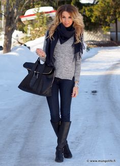 cute outfit! just need a grey sweater!