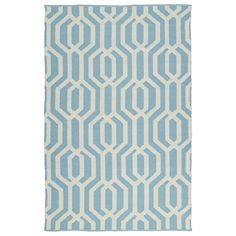Kaleen Rugs Indoor/Outdoor Laguna Spa and Ivory Geo Flat-Weave Rug