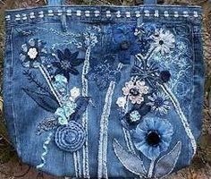 Картинки по запросу юбка из старых джинсов