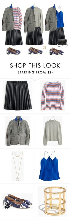 """""""Ideas - Campbell blazer in tweed"""" by villasba on Polyvore featuring J.Crew, Madewell, women's clothing, women, female, woman, misses and juniors"""