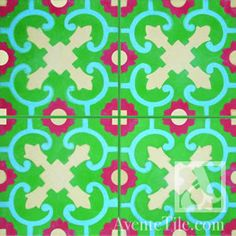 Traditional Mandalla Cement Tile 8 x 8 Handmade Cement Tile