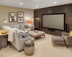 8 of the Coolest Basement Hangouts By Bryan Anthony, Houzz Whether it's adding tiered seating for the ultimate viewing experience or building a second kitchen to draw a crowd, there have Rustic Basement, Tiered Seating, Furniture, Home, Basement Living Rooms, Basement Furniture, Family Room Design, Basement Decor, Home Decor