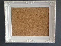 Shabby Chic Rustic Memo Notice Board Cork by Personalgiftsforever