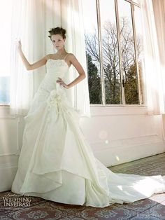 A-line wedding dress with straps by Italian label Jillian Sposa 2011 bridal collection