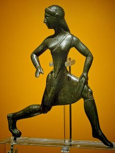 Bronze Figure of a Running Girl Lakonian (Spartan) 6th century BCE  British Museum