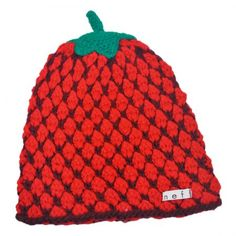 Fruit Beanie Hat - Strawberry available at  VillageHatShop Beanie Hats 640077bd4f