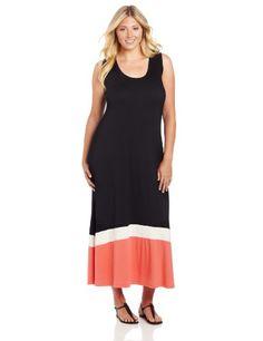 Karen Kane Women's Plus-Size Contrast Maxi Tank Dress, Multi, 3X Karen Kane,http://www.amazon.com/dp/B00AFY0P7Y/ref=cm_sw_r_pi_dp_mksZrb1J66ZGXYQ8