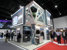 Juniper Exhibition Stall, Exhibition Stand Design, Exhibition Ideas, Double Deck, World Trade Center, Booth Design, Display Windows, Arch, Board