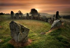 Ballymacdermot Court Tomb or The Fairy Ring as its known locally lying on the southern slopes of Ballymacdermot Mountain close to Newry, Co Armagh, Northern Ireland