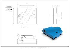 3D CAD EXERCISES 1139 - STUDYCADCAM Cad Drawing, Drawing Practice, Autocad, Geometry, Exercises, 3d, Drawings, Exercise Routines, Drawing Exercises