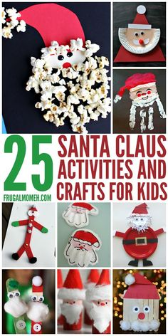 These Santa Claus Crafts & Activities for Kids are a fun way to celebrate Christmas with the family!