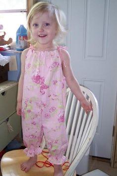 DIY Clothes Romper Refashion : DIY  those cute halter pillowcase romper