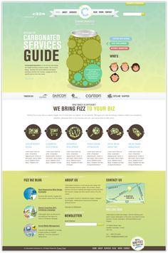 Carbonated Interactive Website 2012 by Brad Harris, via Behance #webdesign #design