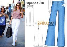 Este pantalón es ideal para ir a trabajar, sin dejar el estilo de lado. El molde está en www.unicose.net / Código 10121218