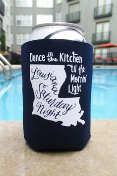 Hey, I found this really awesome Etsy listing at https://www.etsy.com/listing/184776828/louisiana-saturday-night-koozie-in-navy