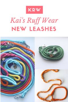 Rope leashes are amazing and super durable. Looking for a new leash for your dog? Look no further than this post and get a leash from Kai's Ruff Wear and