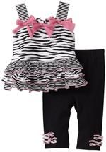 Vitamins Baby 2-Piece Legging Set Zebra | Vitamins Baby Clothes | New Baby Clothes | Girls Baby Clothes | Infant Clothes | Baby Clothing | New Born Baby Clothing | Designer Baby Clothes | Cute Baby Clothing.
