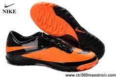 Best Gift Nike Hypervenom TF Black Black Bright Citrus Football Shoes Shop