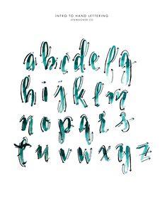Skill Development Through Handwriting – Improve Handwriting Hand Lettering Alphabet, Calligraphy Alphabet, Calligraphy Fonts, Caligraphy, Penmanship, Lettering Guide, Lettering Tutorial, Brush Lettering, Fancy Writing