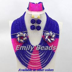 Find More Jewelry Sets Information about Fushia African Wedding Crystal Beads Jewelry Set 12 Layers African Nigerian Wedding Beads Jewelry Set Free Shipping AES515,High Quality jewelry book,China jewelry male Suppliers, Cheap jewelry brand from Emily's Jewelry DIY Store on Aliexpress.com