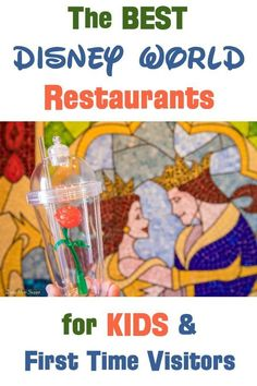 Walt Disney World vacation planning tips with kids -- the best table service estaurants to visit at the disney parks and resorts if you're a first time visitor and/or a family with little kids. Photo is of Be Our Guest in the Magic Kingdom.