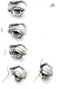 Étude de le œil par DarkKenjie sur deviantART 2058 comment dessiner