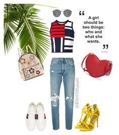 """""""Tommy ❤"""" by svgsemma on Polyvore featuring Mode, Levi's, Tommy Hilfiger, Gucci, Ray-Ban und Fendi"""
