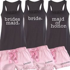Bridal Party with Heart Flowy Tank and by BeforeTheIDos on Etsy #beforetheidos #bride #bridesmaid