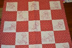 Redwork - Me and My Westie! Westies, Thats Not My, Quilts, Blanket, Quilt Sets, Blankets, Log Cabin Quilts, Cover, Comforters