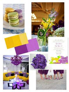 shades of yellow & purple wedding ideas, if only Adam liked yellow.