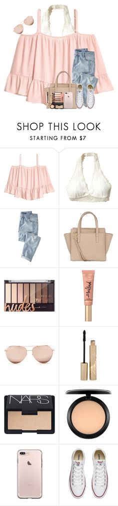 """Blizzard Coming Tonight!!❄️❄️"" by theafergusma ❤ liked on Polyvore featuring Volant, Hollister Co., Wrap, Salvatore Ferragamo, Too Faced Cosmetics, Linda Farrow, Stila, NARS Cosmetics, MAC Cosmetics and Converse"