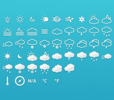 Meteocons - Icons + Fonts - 365psd