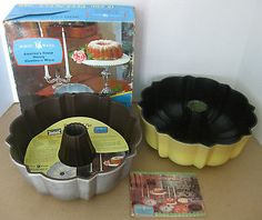 2 collectors-NORDIC WARE*BUNDT*cast aluminum 12 cup fluted tube cake pans(USA)