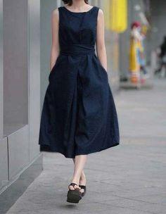 plus linen dress 37592