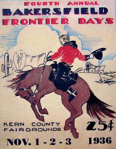 Cowboy Rodeo Poster Bakersfield, CA Vintage Rodeo Print Vintage Advertisements, Vintage Ads, Vintage Posters, Vogue Vintage, Decor Vintage, Art Vintage, Cowboy Art, Cowboy And Cowgirl, Cheyenne Rodeo