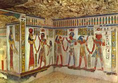 Tomb of Amen-her-Khopsef, one of the four tombs of the sons of Ramses III…