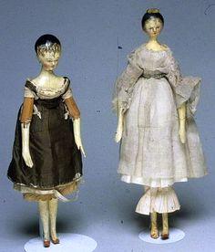 Grodnertal Dolls from the Nineteenth Century.