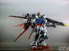 GUNDAM GUY: PG 1/60 GAT-X105 Strike Gundam w/ Aile Strike Pack - Painted Build