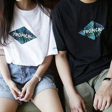 T-shirts pour les femmes / homme 2016 mode estivale lâche Harajuku BF Style Couple vêtements Casual impression o - cou amateurs t - shirt S20581(China (Mainland))