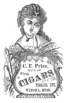 Victorian Image - Tobacco Lady - Label - The Graphics Fairy