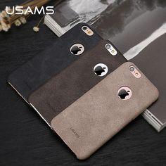 Für iphone 6 case abdeckung usams bob serie leder case luxus weiche 4,7 zoll phone cases für iphone 6 s case
