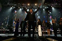 2016 MusiCares Person of the Year Lionel Richie joins an all-star lineup of performers onstage at the tribute in his honor on Feb. 13 in Los Angeles